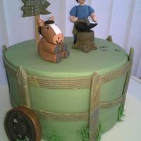 18th birthday cake for a farrier