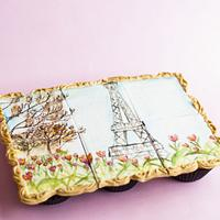 Framed Painting on Cupcakes