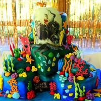 Krishna Shesha Naag under sea cake
