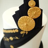'Kalyani' - My Elegant Indian Fashion Collab Cake by Sugargourmande Lou