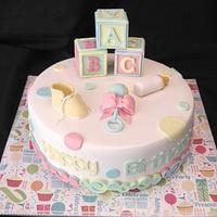 "New Baby ""Birth"" Day Cake"
