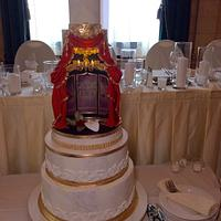The Met (Phantom of the Opera) Wedding Cake