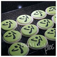 Zumba Logo Cookies