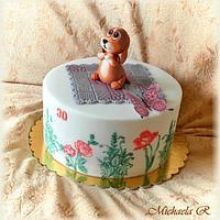 The puppy cake