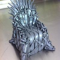 The Iron Throne cake topper