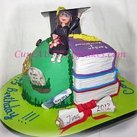 Graduation / 50th birthday mash-up cake