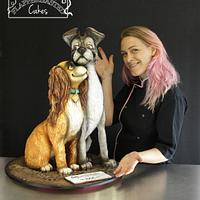 Lady and the Tramp 3D cake