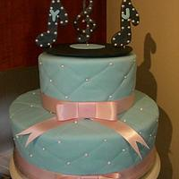 2 tiered music wedding cake by Amanda