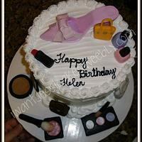 Shoe & Makeup cake