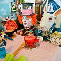 White Rabbit Nivins Mctwisp by Sweet Catastrophe Cakes