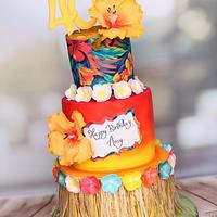 Colourful Hawaiian Cake
