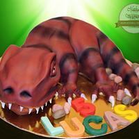 Cake baby Tyrannosaurus Rex