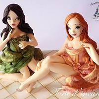 """Anastasia and Drizella"" for Disney Deviant Sugar Art Collaboration"