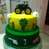 John Deere/Farm Animal Cake