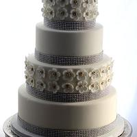 A little bling wedding cake by Carla