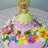 tinkabell cake