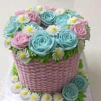 pink & blue pastels