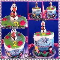 Frozen airbrushed cake