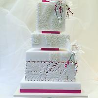 K&M wedding cake