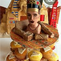 Nefertiti topper - Birthday party by Laura