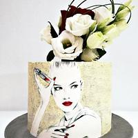 Feminine Birthday cake