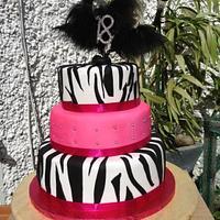18th birthday cake zebra pink by susan joyce