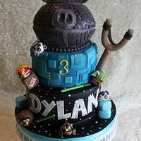 Star Wars Angry Birds Cake