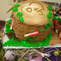 Groom's Shotgun Cake by Sherri