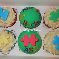 Autism Awareness Day cakes by Madiapple