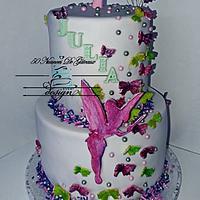 Tinkerbell cake 1st birthday