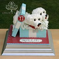 Sculpted Dogs Gift Box Cake