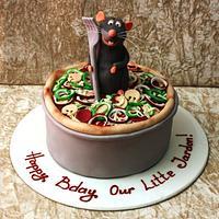 Rat in rattatouille cake