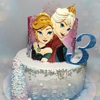 Frozen bas-relief cake