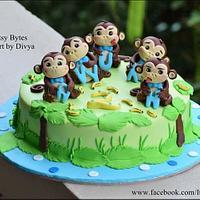 Five Little Monkeys cake