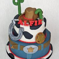2 Tier Cowboy Cake