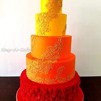 Henna Indian Wedding Cake