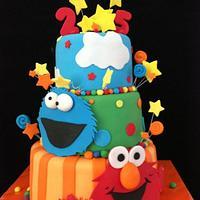 Elmo Cake by Eva Salazar