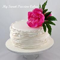 Wedding Cake, with Peony