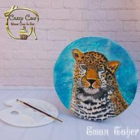 Hand painted Tiger cake
