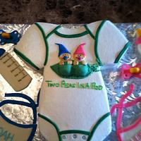Two peas in a pod onesie by TastyMemoriesCakes