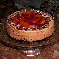 Cranberry Peach Almond Cheesecake by CheesecakeLady