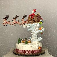 Christmas fruit cake with royal icing decorations!...🦌🎁