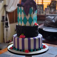 Mad Hatter Themed Eighteenth Birthday Cake