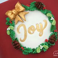 Christmas Wreath Cake by CakesbyLynz