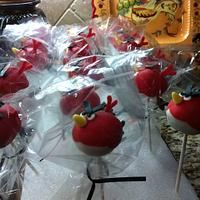 Angry Birds cake pops by Cathy Moilan