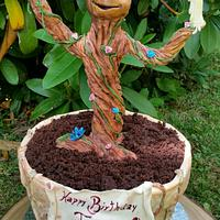 My Little Groot Cake