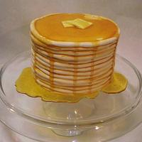 Stack of Pancakes Cake!