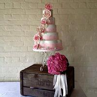 English country garden cake