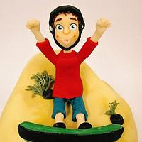 Sand Boarding Cake by Robyn