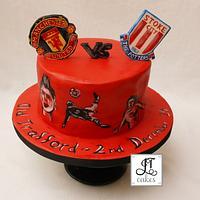 Manchester United cake.